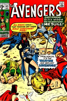 Hey, #Marvel, bring the Lady Liberators to #Netflix next! Cover of #AVENGERS (1963) #83
