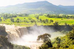 #Huge #river #waterfall Ethiopia The Blue Nile  is a river originating at Lake Tana in Ethiopia.Blue Nile Falls  at Lake Tana