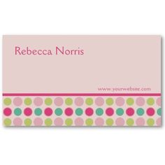 pretty business cards - customizable