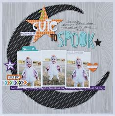 #papercraft #scrapbook #layout. Bella Blvd Halloween Magic collection. Too Cute to Spook layout by Guest Designer Brook Stewart