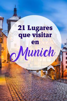 21 Lugares que visitar y que ver en Munich, Alemania - Travel to Blank Westerns, Europe, Travel, Surf Girls, Munich Germany, Travel Tips, Bavaria, European Travel, Continents