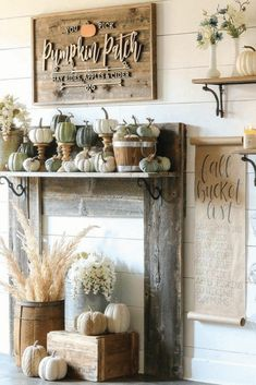 The Best Farmhouse Fall Inspiration The Best Farmhouse Fall Decor Inspiration – A huge collection of Farmhouse fall decorating ideas that are completely on-trend, showcasing neutral color palettes with natural materials. Fall Home Decor, Autumn Home, Fall Inspiration, Fall Door Decorations, Outdoor Fall Decorations, Fall Diy, Farmhouse Decor, Farmhouse Ideas, Modern Farmhouse