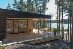 Galleria_etusivun_stack — Plushuvilat Summer Cabins, 100 M2, Forest House, Cabins In The Woods, My Dream Home, Tiny House, Beach House, Sweet Home, Cottage