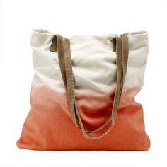 Liukuvärjätty shopper-kassi Drawstring Backpack, Gym Bag, Backpacks, Beige, Collection, Fashion, Moda, Fashion Styles, Backpack