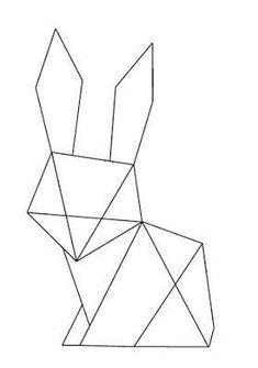 Déco de Pâques: cadre lapin origami Truc & Tricks Osterdeko: Origami Hasenrahmen Truc & Tricks The post Osterdeko: Origami Hasenrahmen Truc & Tricks appeared first on Pin makeup. Tape Art, Geometric Drawing, Geometric Shapes, Dinosaur Origami, Origami Butterfly, 3d Pen, Ideias Diy, Diy Origami, String Art