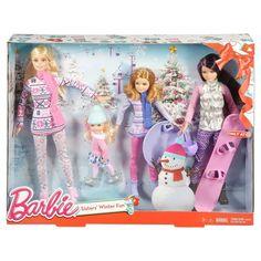 2015 Barbie Sisters Winter Fun Target Exclusive - with Skipper, Stacie and Chelsea - Pink Snow Board Snowboard and Pale Purple Snow Flying Saucer Snowman Helmet Barbie Y Ken, Barbie 2000, Barbie Dolls Diy, Barbie Sisters, Barbie Dream, New Dolls, Mattel Barbie, Barbie Stuff, Girl Dolls