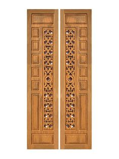 Pooja Rooms, Iron Doors, Bedroom Themes, Wooden Doors, Bed Room, Shutters, Wood Carving, Laser Engraving, Entrance