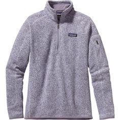 Patagonia Better Sweater 1/4-Zip Fleece Jacket ($99) ❤ liked on Polyvore featuring tops, fleece tops, fleece pullover, sweater pullover, patagonia pullover and slimming tops