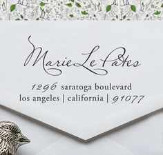 Custom Rubber Address Stamp - Great Wedding Gift - Eco Mount - cute birthday or housewarming gift - ea1030. $19.95, via Etsy.