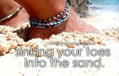 sinking your toes into the sand... in hawaii... :o)