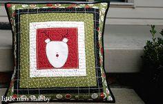 cute reindeer pillow