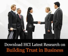Building Trust in Business-  new research- free!