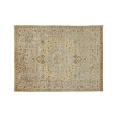 Shop Nola Wool 9'x12' Rug.  Our Nola rug reinterprets the time-honored Persian rug in soft neutrals, muting traditional motifs to a soft whisper.