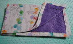 Purple Minky Baby Blanket Butterflies by TheAmberRoseEmporium
