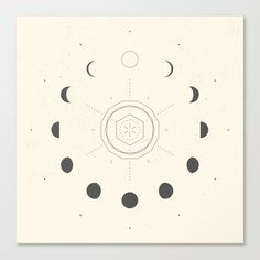 Moon Phases Light Mini Art Print by Nayla Smith - Without Stand - x Moon Phases Drawing, Moon Drawing, Moon Phases Art, Lighted Canvas, Moon Magic, Canvas Prints, Art Prints, Moon Art, Logo Design