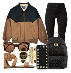"""""""Untitled #587"""" by kgoldchains ❤ liked on Polyvore featuring Illesteva, Charlotte Russe, Steve Madden, J Brand, Moschino, Valentino, nice, beautiful, weekend and baddie"""