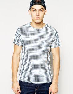 Native Youth Gingham Knit Double Face T-Shirt