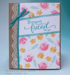 CCREW317TECH - Friends and Flowers by Diana Gibson - Cards and Paper Crafts at Splitcoaststampers