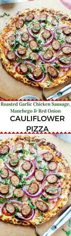 Roasted Garlic Chicken Sausage, Manchego & Red Onion Pizza
