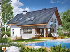 Dom w miodokwiatach 3 Front Door Overhang, Wood Pallet Furniture, Bali, Home Fashion, Cozy House, Farmhouse Decor, Beautiful Homes, House Plans, Exterior