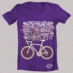 "Camiseta morada ""BICICLETA 1"""