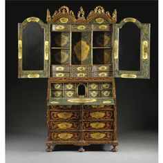 Luxurious Century Cabinet by Jacobus Fiamengo Regency Furniture, Luxury Bedroom Furniture, Royal Furniture, European Furniture, Hand Painted Furniture, Antique Furniture, Art Nouveau, Antique Cabinets, Beautiful Interior Design