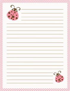 printable lined paper Simple blue and red colored lined