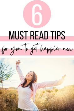 How to be happy now tips! Simple ideas to get happier now. Decide every day to choose happiness and feel grateful for what you have. Learn how to always be happy for the little things and stay positive even with less. Live a life that inspires you. #happiness, #howtobehappy, #improveyourlife,#thinkpositive, #happinessinsmallthings Tips To Be Happy, Get Happy, Happy Life, Are You Happy, Happiness Comes From Within, Choose Happiness, Finding Happiness, Love Wellness, Wellness Quotes