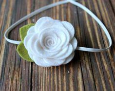 Items similar to Pink felt flower garland headband - newborn/baby/toddler headband - flower girl headband - photo prop on Etsy