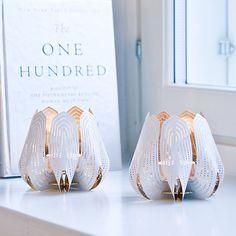 Blossom tealight candle holder - White