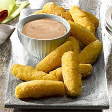 Surullitos – Puerto Rican Corn Sticks!  You can serve with cheese or with Mayoketchup sauce. The new game day essential dish