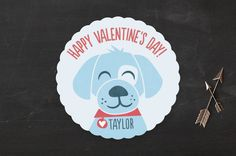 Puppy Hugs Classroom Valentine's Day Cards by Jessie Steury at minted.com