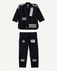 RVCA St Gray // White Jiu Jitsu Gi Patch