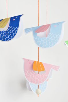hello, Wonderful - SWEET PAPER BIRD MOBILE WITH FREE PRINTABLE