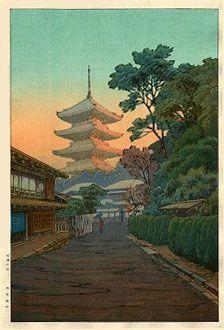 Village near Nikko  by Ito Yuhan  (published by Nishinomiya Yosaku)