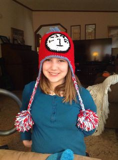 Thing 1 Crocheted Hat.