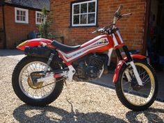 In another attempt to capture more of a European market, and share brand development with Armstrong, a trials bike was launched. Canned Ham, Trial Bike, Trials, Image, Competition, Motorcycles, Dirt Biking, Bicycle, Motorbikes