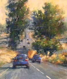 Nancy Feinman Nowak On the Road, Again - 12 x 14 pastel.
