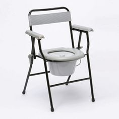 Folding Commode - £33.99  This extremely lightweight, sturdy steel commode folds easily for storage or transportation.