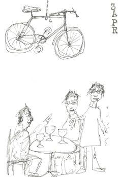 Le Peloton de Paris-Bicycle Bar: met een pintje in de hand en een fiets in delucht