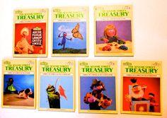 1980's Sesame Street Treasury Book Set by GiddyGirlVintage on Etsy, $19.00