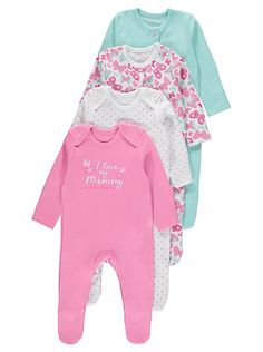 3 +1 Free Pack Assorted Sleepsuits, read reviews and buy online at George at ASDA. Shop from our latest range in Baby. Care for your baby with the soft and b...