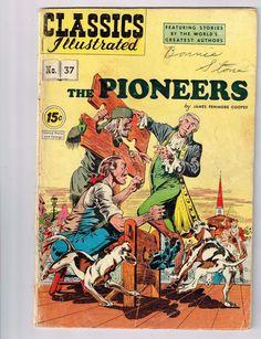 1947 Antique Comic : CLASSICS ILLUSTRATED The Pioneers No. 37 James F Cooper