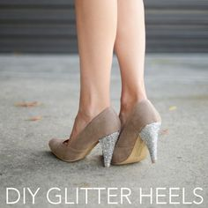Easy DIY Glitter Heels Tutorial