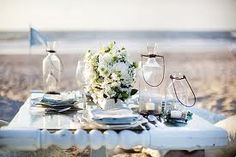 A gorgeous table setting on the beach