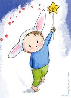 Le lapin dans la lune - Albums - illustrations 2007