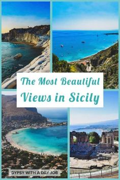 May 2019 - Don't have a boring Sicily Vacation! Plan a Sicily 5 Day Itinerary with beaches, cities, ruins and volcanoes- an exciting 5 Days in Sicily! Sicily Travel, Italy Travel Tips, Travel Europe, Europe Destinations, Holiday Destinations, Sicily Italy, Verona Italy, Puglia Italy, Venice Italy