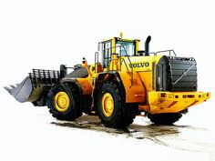 Volvo L350F Wheel Loader in Studio