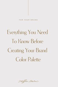 Learn How to Create Your Brand Color Palette using Color Theory and understanding how to use them within your brand. Personal Branding, Branding Your Business, Creative Business, Logo Branding, Branding Design, Logo Design, Brand Identity, Corporate Branding, Business Logos