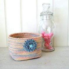 A nice basket perfect for a shabby chic decor by Dansmamaisonilya, $18.00